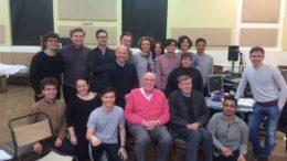 Alan Bennett with cast